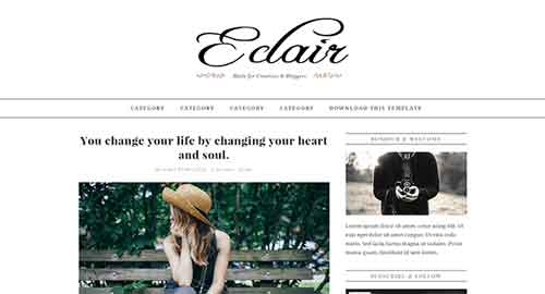 Eclair Blogger Template