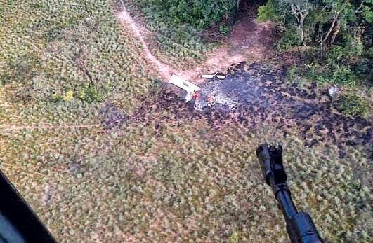 Accion Militar contra aeronave de presuntos narcotraficantes