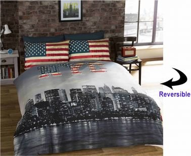Nyc For Under 40 New York City Theme Bedding Set