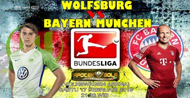 Prediksi Wolfsburg vs Bayern Munich 17 Februari 2018