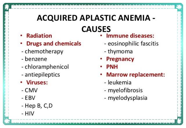 Aquired aplastic anaemia