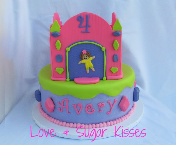 Bounce House Castle Cake