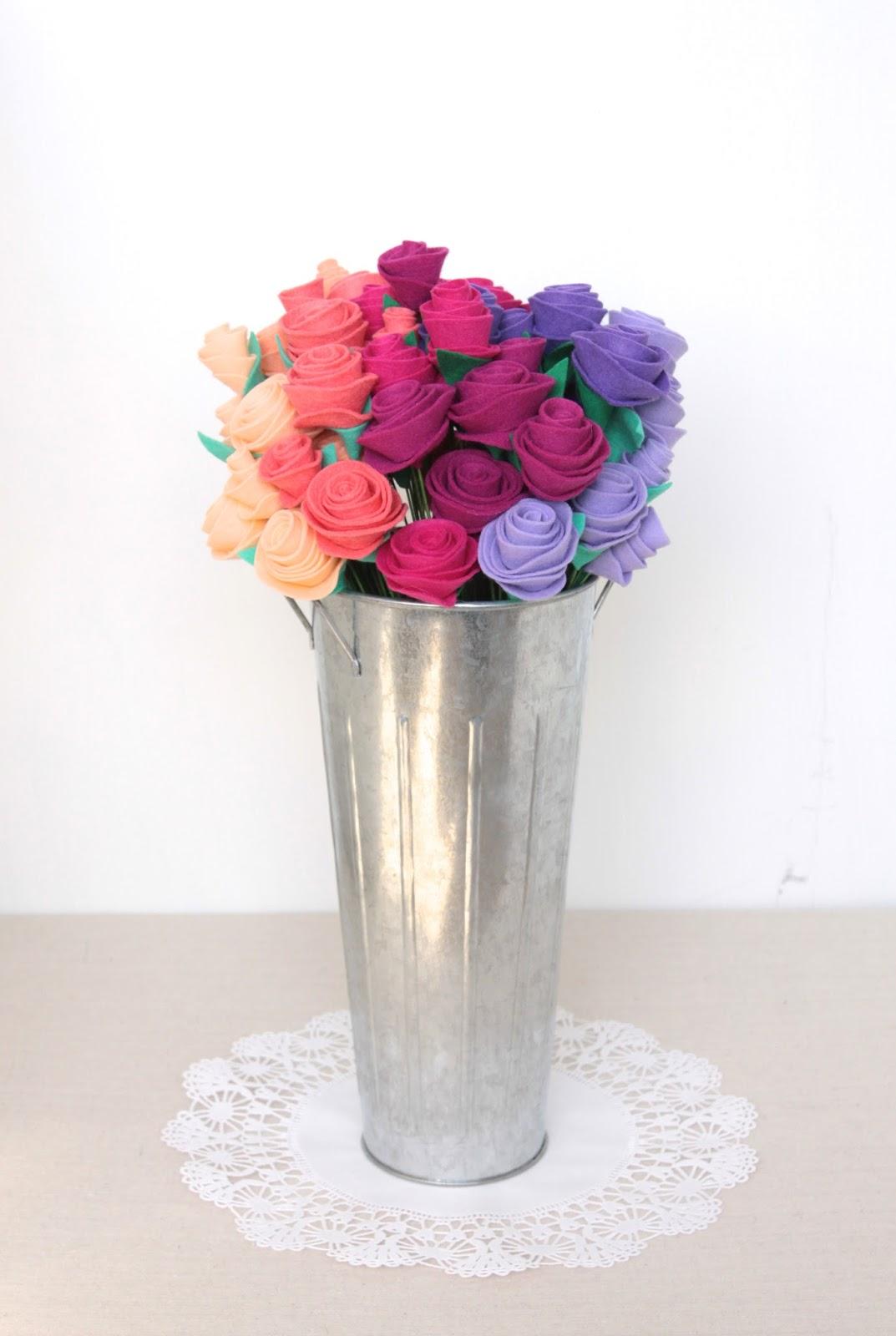 Felt Bouquet How-to // Benzie