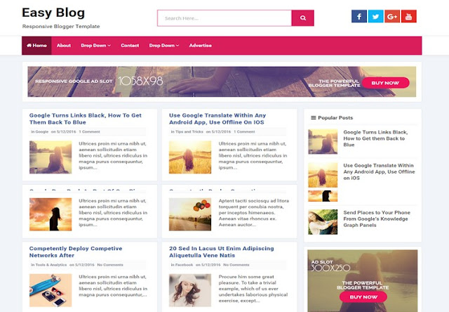 Template blogger responsive easy blog