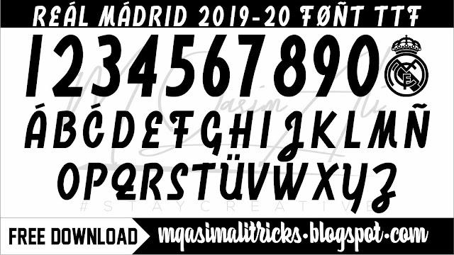 Real Madrid 2019-20 Font Download- Free Football Font TTF Download by M Qasim Ali