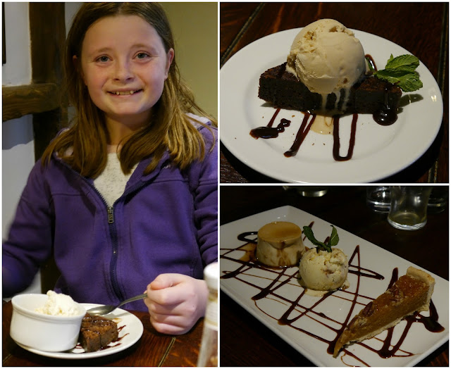Desserts at the Lamb Inn at Hooe