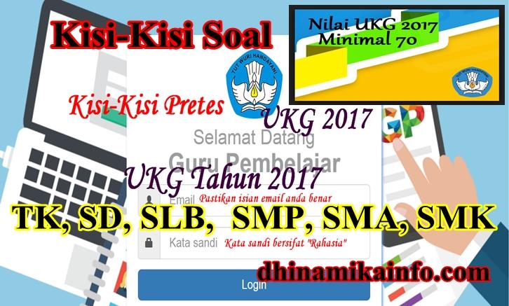 Kisi Kisi Soal Pretest Ukg 2017 Guru Tk Sd Slb Smp Sma Smk Dhinamika Info