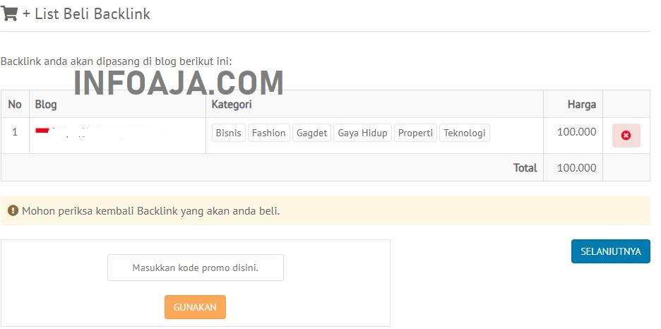 list beli backlink