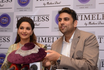Madhuri Dixit ties up with PNG Jewellers to launch her jewellery line TIMELESS
