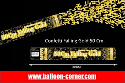 Party Popper Falling Gold / Confetti Falling Gold Ukuran 50 Cm