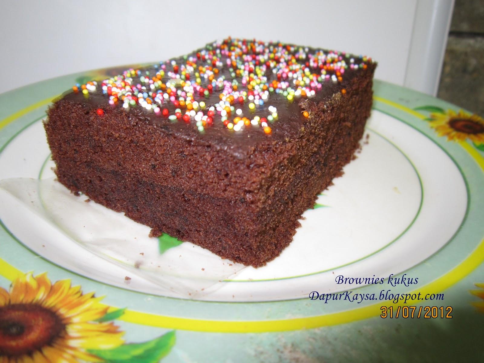 Resep Cake Kukus Hesti Kitchen: Kaysa's Little Kitchen: Brownies Kukus Ny. Liem