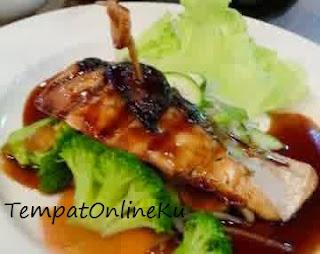 ikan salmon saus tiram