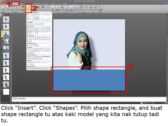 Cara nak edit gambar untuk bisnes guna powerpoint
