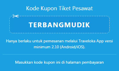 Traveloka Kode Kupon Tiket Pesawat