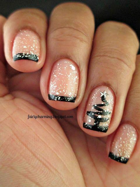 Uñas Decoradas árbol De Navidad Paso A Paso ε Diseños De Uñas