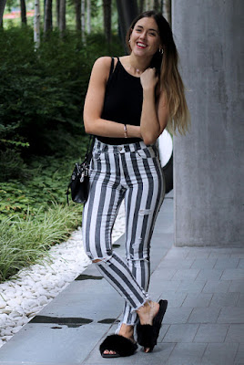 Outfits con pantalón de RAYAS tumblr casuales que no conoces