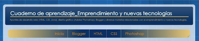 Barra de menu Blogger con mismo aspecto de pestañas