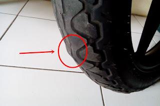 Bahaya Ban Motor Benjol  Bergelombang dan Tidak rata (www.motroad.com)