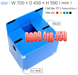 thùng nhựa pp danpla có nắp đậy