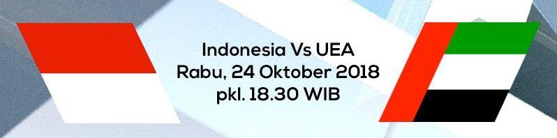 Jadwal Timnas Indonesia vs Uni Emirat Arab