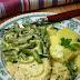 Potrawka z  indyka z fasolką szparagową (wersja zwykła i fit)