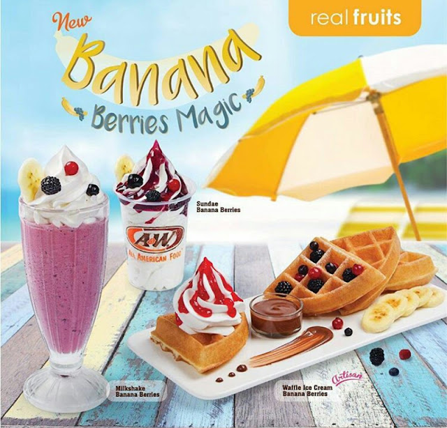 BANANA BERRIES MAGIC, MENU DESSERT TERBARU A&W RESTAURANT