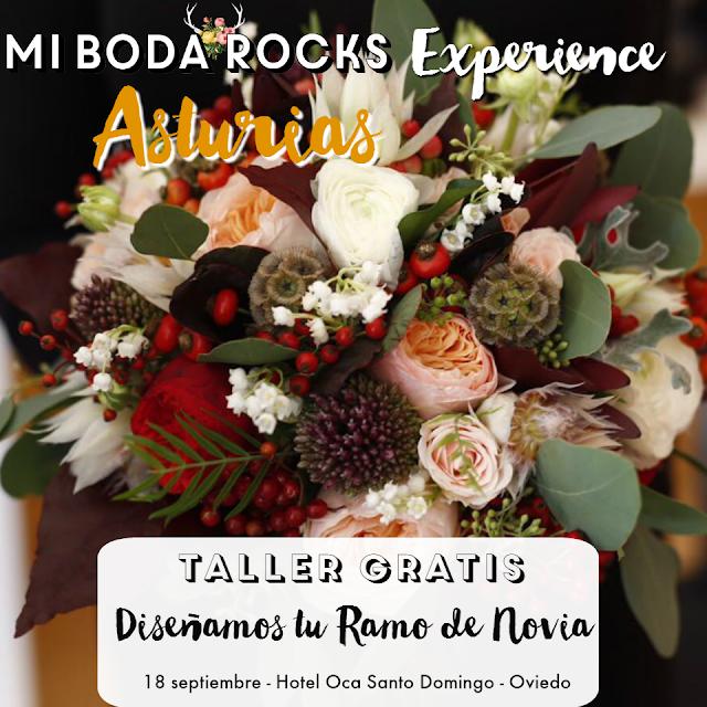 Taller Disenamos tu ramo de novia - Mi Boda Rocks Experience Oviedo Asturias