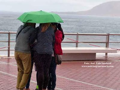 Alerta por lluvias en canarias, decretada,  10 febrero