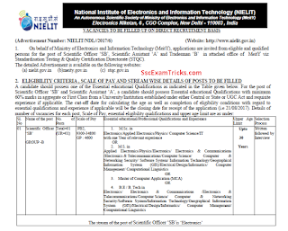 NIELIT Scientific Office Assistant Recruitment 2017