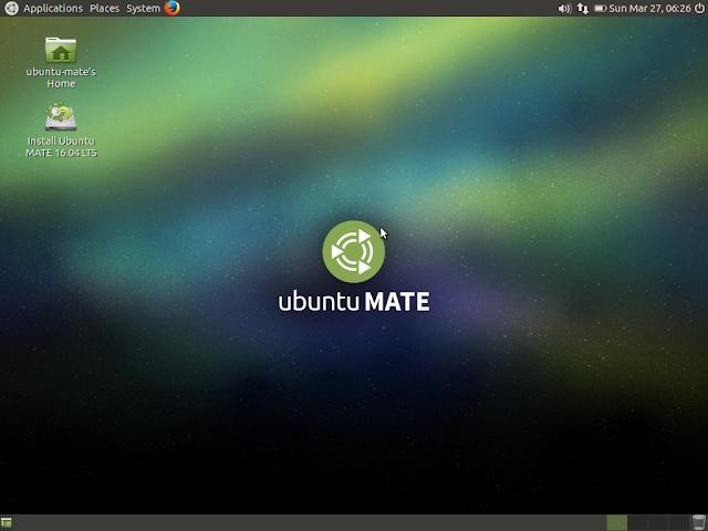 Ubuntu MATE desktop initial impression