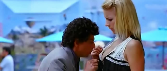 Shah Rukh looking for his keys in cleavage