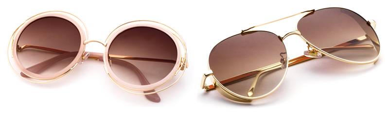 Óculos Flat Sunnies Marrons