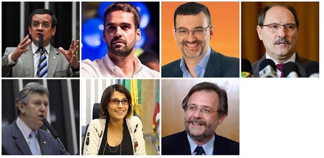 Beto Albuquerque (PSB) Eduardo Leite (PSDB) Jairo Jorge (PDT) José Ivo Sartori (MDB) Luis Carlos Heinze (Progressistas) Manuela d'Ávila (PCdoB) Miguel Rosseto (PT)