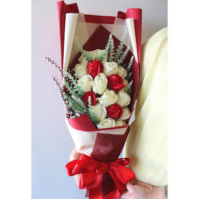 Surprise mom this Mother's Day with the Nile Corp Artificial Everlasting Scented Rose Bouquet