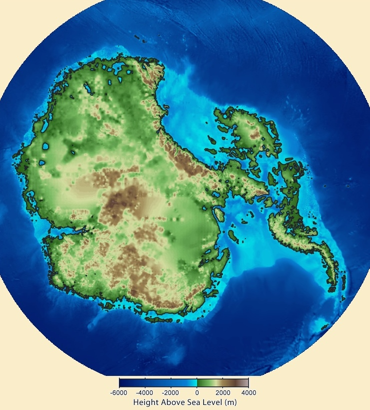 antarctica without ice map Robs Webstek Antarctica Without Ice Sheet antarctica without ice map
