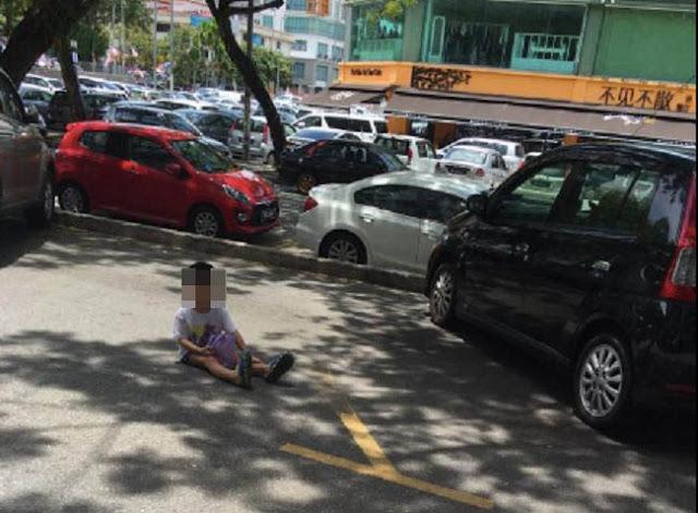 Foto Dakwa Budak Kecil Digunakan Untuk 'Cop' Petak Parking Jadi Viral