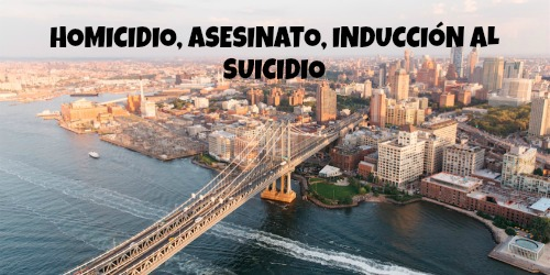 HOMICIDIO, ASESINATO, INDUCCIÓN AL SUICIDIO