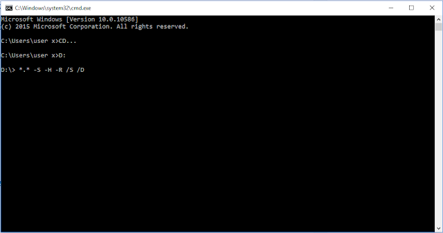 Cara mengembalikan file menggunakan cmd