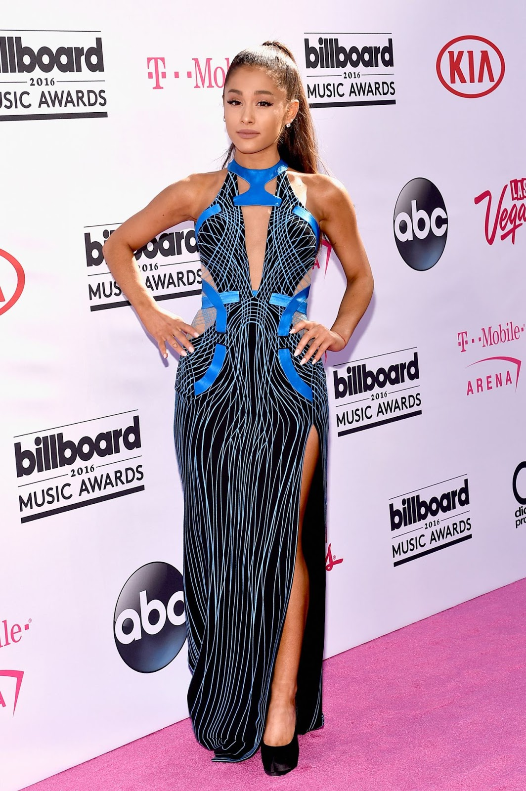 Ariana Grande smoulders in Versace at the Billboard Music Awards 2016