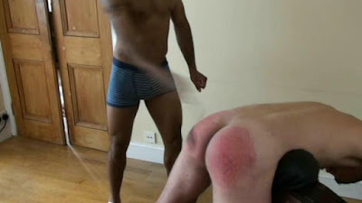 Ben takes a hard spanking from Ash in a gay spanking video made by No Way Out Punishment