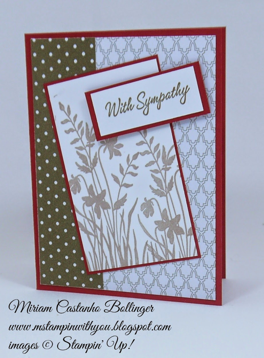 Miriam Castanho Bollinger, #mstampinwithyou, stampin up, demonstrator, ppa, fms, neutral dsp, language of friendship stamp set, sympathy card, su