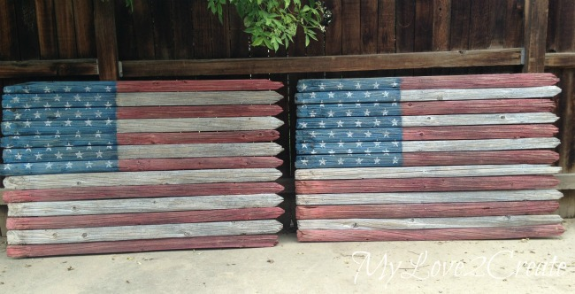 MyLove2Create, Rustic Fence American Flag