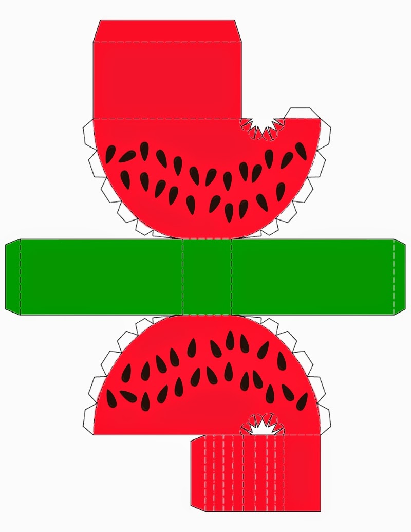 Watermelon Free Printable Box.