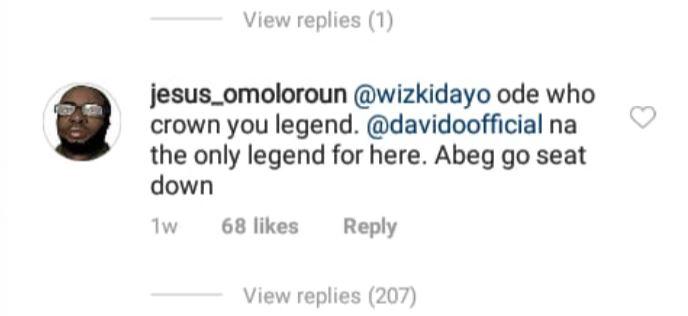 Idle Nigerian Roasts Singer Wizkid on Instagram Then Gets Slammed