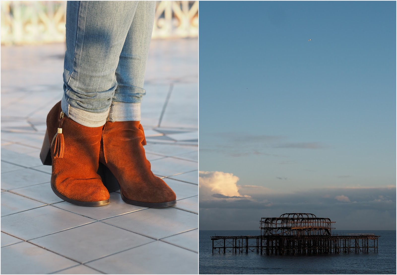 Photo Collage - Tan Boots // Old Pier