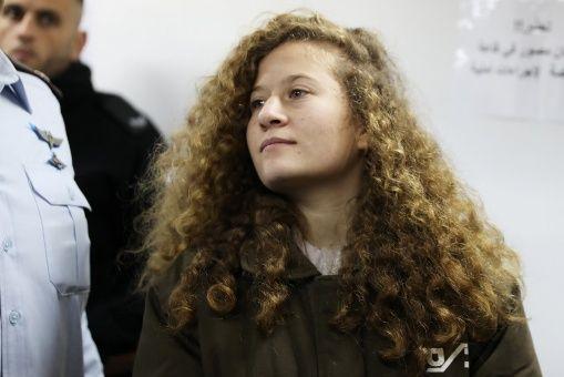 Joven Ahed Tamimi espera dictamen de corte militar israelí