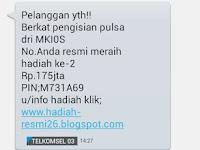 Waspadai Penipuan Online Berhadiah Dari MKIOS Melalui SMS