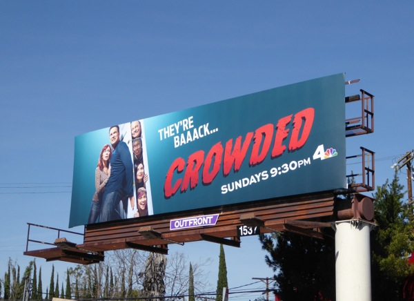 Crowded series premiere billboard