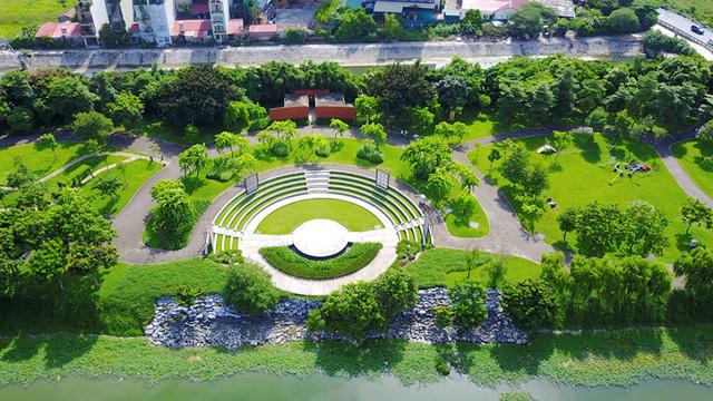 Phú Thịnh Green Park nằm đối diện công viên 120ha