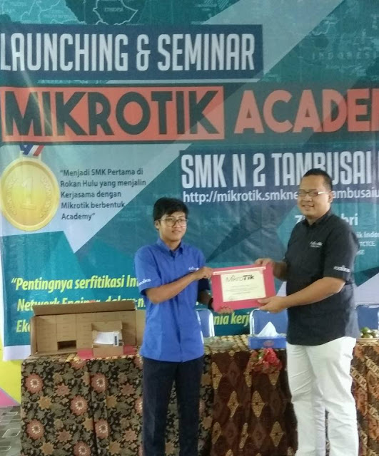 Peresmian dan Workshop Mikrotik Academy SMK Negeri 2 Tambusai Utara Tahun 20174